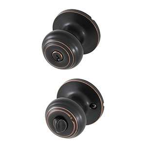 Honeywell Classic Entry Door Knob, Oil Rubbed Bronze, 8101401