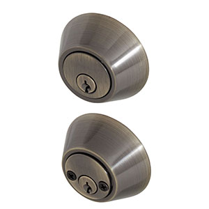 Honeywell Double Cylinder Deadbolt, Antique Brass, 8112109