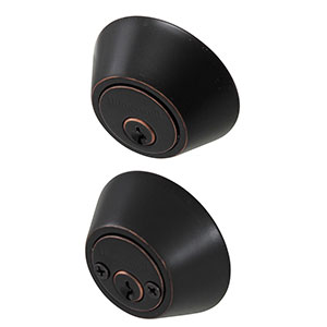 Honeywell Double Cylinder Deadbolt, Oil Rubbed Bronze, 8112409