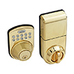 Honeywell Digital Door Lock and Deadbolt in Polished Brass, 8612009