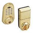 Honeywell Digital Door Lock and Deadbolt with Remote in Polished Brass, 8613009