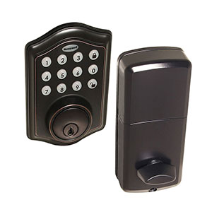 Honeywell Electronic Deadbolt Door Lock with Keypad Oil Rubbed Bronze, 8712409