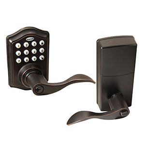 Honeywell Electronic Entry Lever Door Lock with Keypad in Oil Rubbed Bronze, 8734401