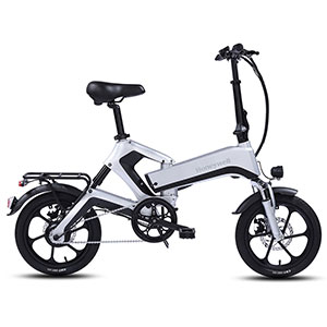 Honeywell Dasher Foldable Lightweight Electric Commuter Bike, Silver - 98004
