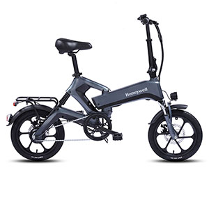 Honeywell Dasher Foldable Lightweight Electric Commuter Bike, Dark Grey - 98005