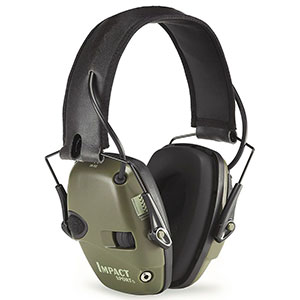 Howard Leight by Honeywell Impact Sport Sound Amplification Electronic Shooting Earmuff, Hunter Green - R-01526