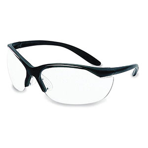 Honeywell Vapor II Shooter's Safety Eyewear, Black frame, Clear Lens - R-01535