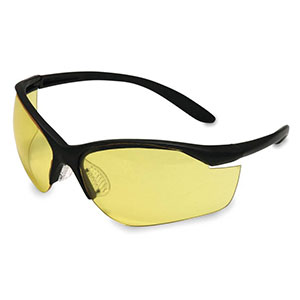 Honeywell Vapor II Shooter's Safety Eyewear, Black frame, Amber Lens - R-01536