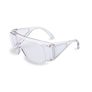 Honeywell HL100 Shooter's Safety Eyewear, Clear Frame, Clear Lens, fits over most prescription frames - R-01701