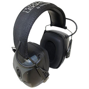 Honeywell Impact Pro High NRR Sound Amplification Earmuff, Black/Gray - R-01902