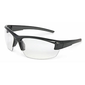Honeywell Mercury Shooter's Safety Eyewear, Black Frame, Clear Lens, Anti-Fog Lens Coating, Microfiber Bag - R-02104
