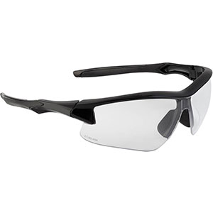 Honeywell Acadia Shooter's Safety Eyewear, Black Frame, Clear Lens - R-02214