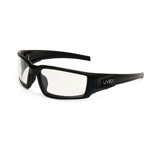 Honeywell Hypershock Shooter's Safety Eyewear, Black Frame, Clear Lens with Uvextreme Plus Anti-Fog lens coating - R-02220