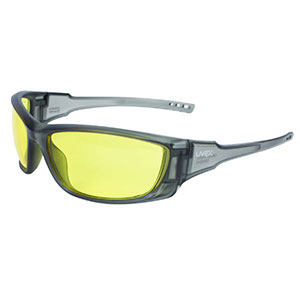 Honeywell Uvex A1500 Shooter's Safety Eyewear, Gray Frame, Amber Lens - R-02227