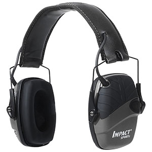 Honeywell Impact Sport Sound Amplification Electronic Earmuff, Black - R-02524