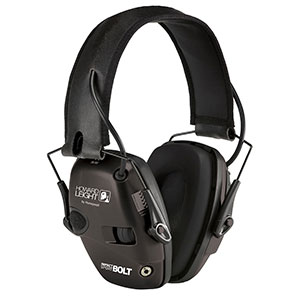 Honeywell Impact Sport Bolt Sound Amplification Electronic Earmuff, Black - R-02525