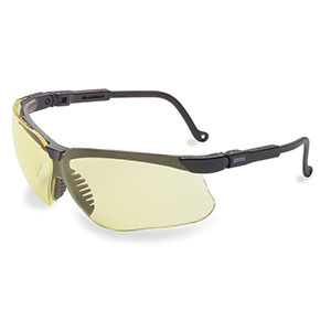 Honeywell Genesis Shooter's Safety Eyewear, Black Frame, Amber Lens, Anti-Fog Lens Coating - R-03571