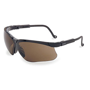 Honeywell Genesis Shooter's Safety Eyewear, Black Frame, Espresso Lens, Anti-Fog Lens Coating - R-03572