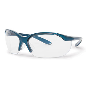 Honeywell Vapor Safety Eyewear, Sporty Metallic Blue, Clear Lens - RWS-51004