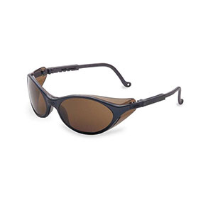 Honeywell Bandit Safety Eyewear with a Black Dual-Lens Frame, Espresso Lens, Anti-Fog Lens Coating - RWS-51011