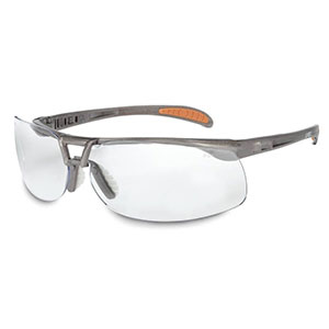 Honeywell Uvex Protege Safety Eyewear, Ultra Lightweight and Floating Lens Design, Sandstone Frame, Clear Lens, Anti-Fog Lens Coating - RWS-51021