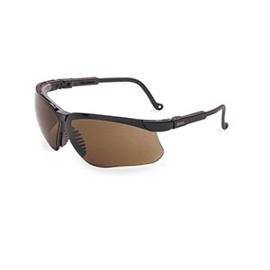 Honeywell Genesis Safety Eyewear, Black Adjustable Frame, Espresso Lens, Anti-Fog Lens Coating - RWS-51024