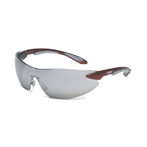Honeywell Uvex Ignite Safety Eyewear, Red and Silver, Mirror Lens - RWS-51039