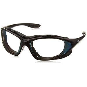 Honeywell Uvex Seismic 2-in-1 Eyewear and Goggle Kit, Black Frame - RWS-51044