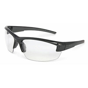 Honeywell Mercury Safety Eyewear with Black Frame, Clear Lens, Anti-Fog Lens Coating - RWS-51052