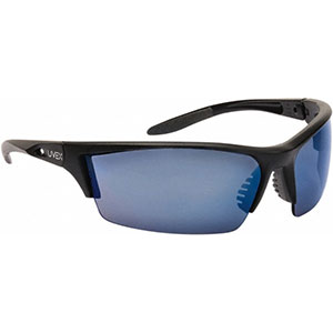 Honeywell HS300 Safety Eyewear, Matte Frame, Blue Mirror Lens, Scratch-Resistant Hardcoat Lens Coating - RWS-51072