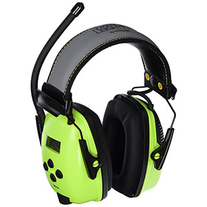 Honeywell Digital AM/FM RadioHearing protector (Earmuff), with an AUX input jack (Hi-Vis Green) - RWS-53015