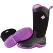 Muck Boots Tack II Hi Cut Equestrian Work Boot, Black/Purple, TK2H-500