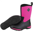 Muck Boots Women's Arctic Weekend Winter Boot, Black/Hot Pink, WAW-4PLD