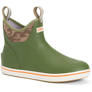XTRATUF XMAB-300 Men's 6 In. Ankle Deck Boot, Green Camo