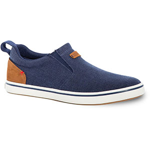 XTRATUF Men's Canvas Sharkbyte Deck Shoe, Blue - XSB-200