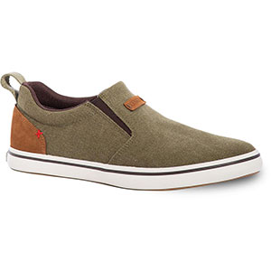 XTRATUF Men's Canvas Sharkbyte Deck Shoe, Olive - XSB-300