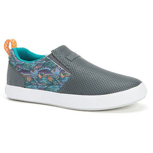XTRATUF XSW-7GG Fishe Wear Groovy Grayling Sharkbyte Deck Shoe, Gray