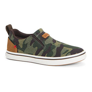 XTRATUF XSW-CAM Women's Canvas Sharkbyte Deck Shoe, Camo