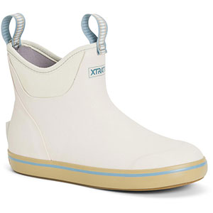 XTRATUF Women's 6 In Ankle Deck Boot, Cream - XWAB-100