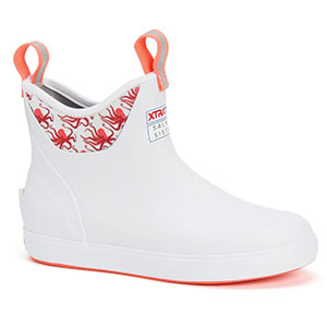XTRATUF Women's Salmon Sisters Octopus Ankle Deck Boot, White - XWAB-101