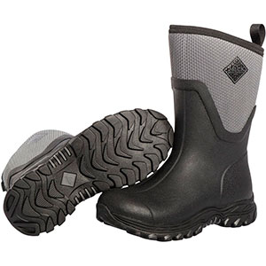 Muck AS2M-101 Arctic Sport II Mid Boot, Black / Gray