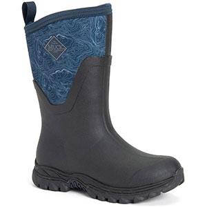 Muck Women's Arctic Sport II Mid Boot, Black/ Navy Topography - AS2M-201