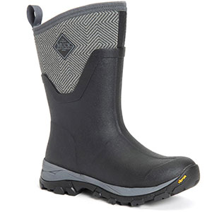 Muck AS2MV-101 Arctic Ice AG Mid Boot, Black/Grey Geometric