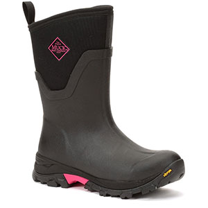 Muck Women's Arctic Ice Mid Boot, Black / Hot Pink - AS2MV-404