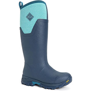 Muck Women's Arctic Ice Tall Boot, Navy / Blue Geometric - AS2TV-200