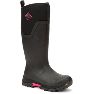 Muck AS2TV-404 Arctic Ice Tall Boot, Black / Hot Pink