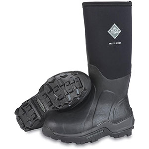 Muck ASP-STL Arctic Sport Steel Toe Boot, Black
