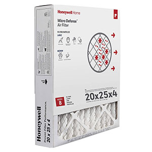 Honeywell Air Filter High Efficiency CF100A1025/U, 20x25x4.5 - Merv 8