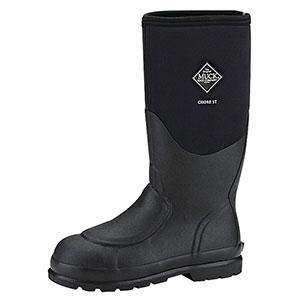 Muck Boots Chore Steel Toe Met Guard Work Boot in Black, CHS-META