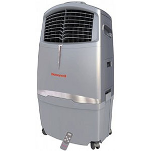 Honeywell CO30XE Indoor/Outdoor Evaporative Air Cooler, 525 CFM (Gray)